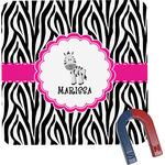 Zebra Square Fridge Magnet (Personalized)