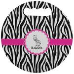 Zebra Stadium Cushion (Round) (Personalized)