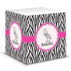 Zebra Sticky Note Cube (Personalized)