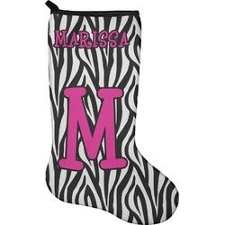 Zebra Christmas Stocking - Neoprene (Personalized)
