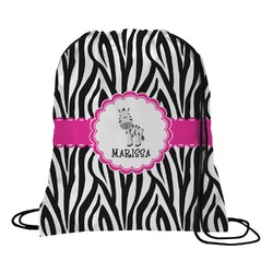 Zebra Drawstring Backpack (Personalized)