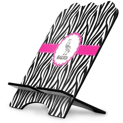 Zebra Stylized Tablet Stand (Personalized)