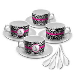 Zebra Tea Cup - Set of 4 (Personalized)
