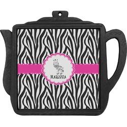 Zebra Teapot Trivet (Personalized)