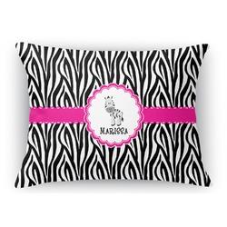 Zebra Rectangular Throw Pillow Case (Personalized)