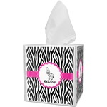 Zebra Tissue Box Cover (Personalized)