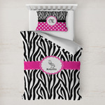 Zebra Toddler Bedding w/ Name or Text