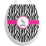 Zebra Toilet Seat Decal (Personalized)