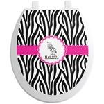 Zebra Toilet Seat Decal (Personalized)