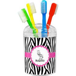 Zebra Toothbrush Holder (Personalized)
