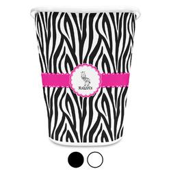 Zebra Waste Basket (Personalized)