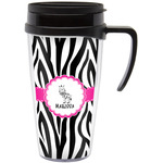 Zebra Travel Mug with Handle (Personalized)