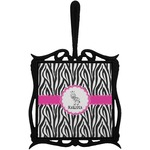 Zebra Trivet with Handle (Personalized)