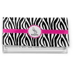 Zebra Vinyl Checkbook Cover (Personalized)