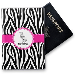 Zebra Vinyl Passport Holder (Personalized)