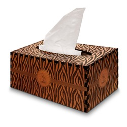 Zebra Wooden Tissue Box Cover - Rectangle (Personalized)