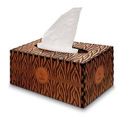 Zebra Wooden Tissue Box Cover - Rectangle (Personalized)