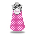 Zebra Print & Polka Dots Apron (Personalized)