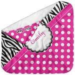 Zebra Print & Polka Dots Baby Hooded Towel (Personalized)