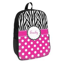 Zebra Print & Polka Dots Kids Backpack (Personalized)