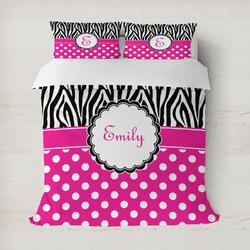 Zebra Print & Polka Dots Duvet Covers (Personalized)
