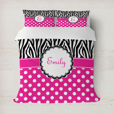 Zebra Print & Polka Dots Duvet Covers (Personalized)
