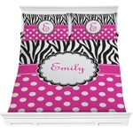 Zebra Print & Polka Dots Comforters (Personalized)