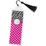 Zebra Print & Polka Dots Book Mark w/Tassel (Personalized)
