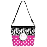 Zebra Print & Polka Dots Bucket Bag w/ Genuine Leather Trim (Personalized)