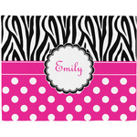 Zebra Print & Polka Dots Placemat (Fabric) (Personalized)