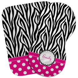 Zebra Print & Polka Dots Burp Cloth (Personalized)