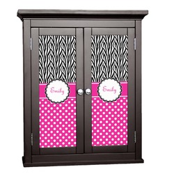 Zebra Print & Polka Dots Cabinet Decal - XLarge (Personalized)