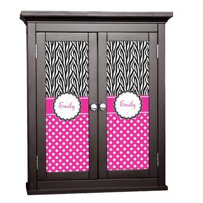 Zebra Print & Polka Dots Cabinet Decal - Custom Size (Personalized)
