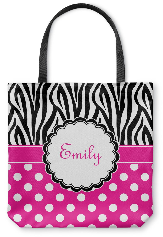 5379e7938 Zebra Print & Polka Dots Canvas Tote Bag (Personalized) - YouCustomizeIt