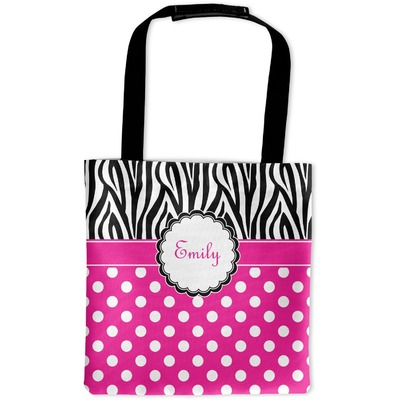 Zebra Print & Polka Dots Auto Back Seat Organizer Bag (Personalized)