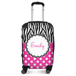 Zebra Print & Polka Dots Suitcase (Personalized)