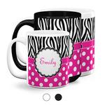 Zebra Print & Polka Dots Coffee Mugs (Personalized)