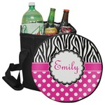 Zebra Print & Polka Dots Collapsible Cooler & Seat (Personalized)
