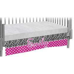 Zebra Print & Polka Dots Crib Skirt (Personalized)