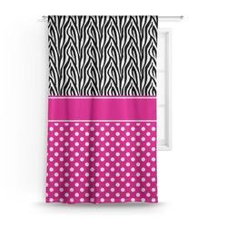 "Zebra Print & Polka Dots Curtain - 50""x84"" Panel (Personalized)"