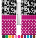 Zebra Print & Polka Dots Curtains (2 Panels Per Set) (Personalized)