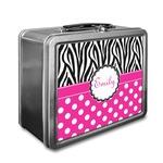 Zebra Print & Polka Dots Lunch Box (Personalized)