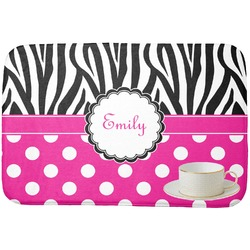 Zebra Print & Polka Dots Dish Drying Mat (Personalized)
