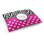 Zebra Print & Polka Dots Dog Bed (Personalized)