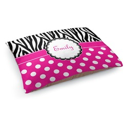 Zebra Print & Polka Dots Dog Bed (Personalized)