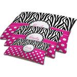 Zebra Print & Polka Dots Dog Bed w/ Name or Text