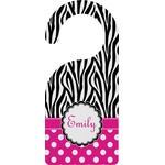 Zebra Print & Polka Dots Door Hanger (Personalized)