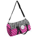Zebra Print & Polka Dots Duffel Bag (Personalized)