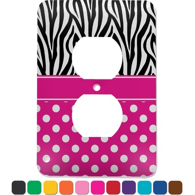 Zebra Print & Polka Dots Electric Outlet Plate (Personalized)