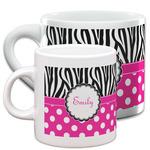 Zebra Print & Polka Dots Espresso Cups (Personalized)